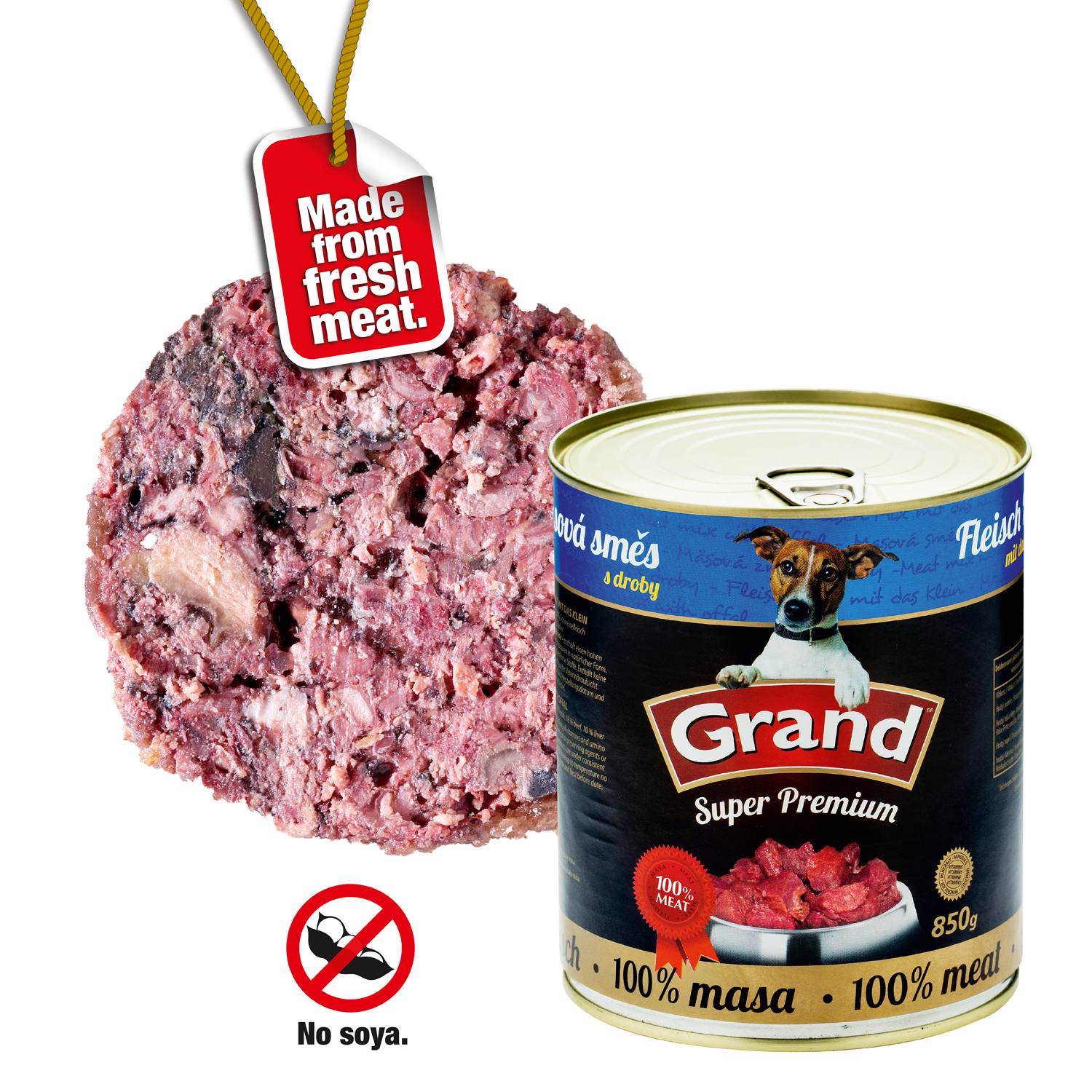 GRAND SuperPremium Masová směs - DOG 6 x 850g