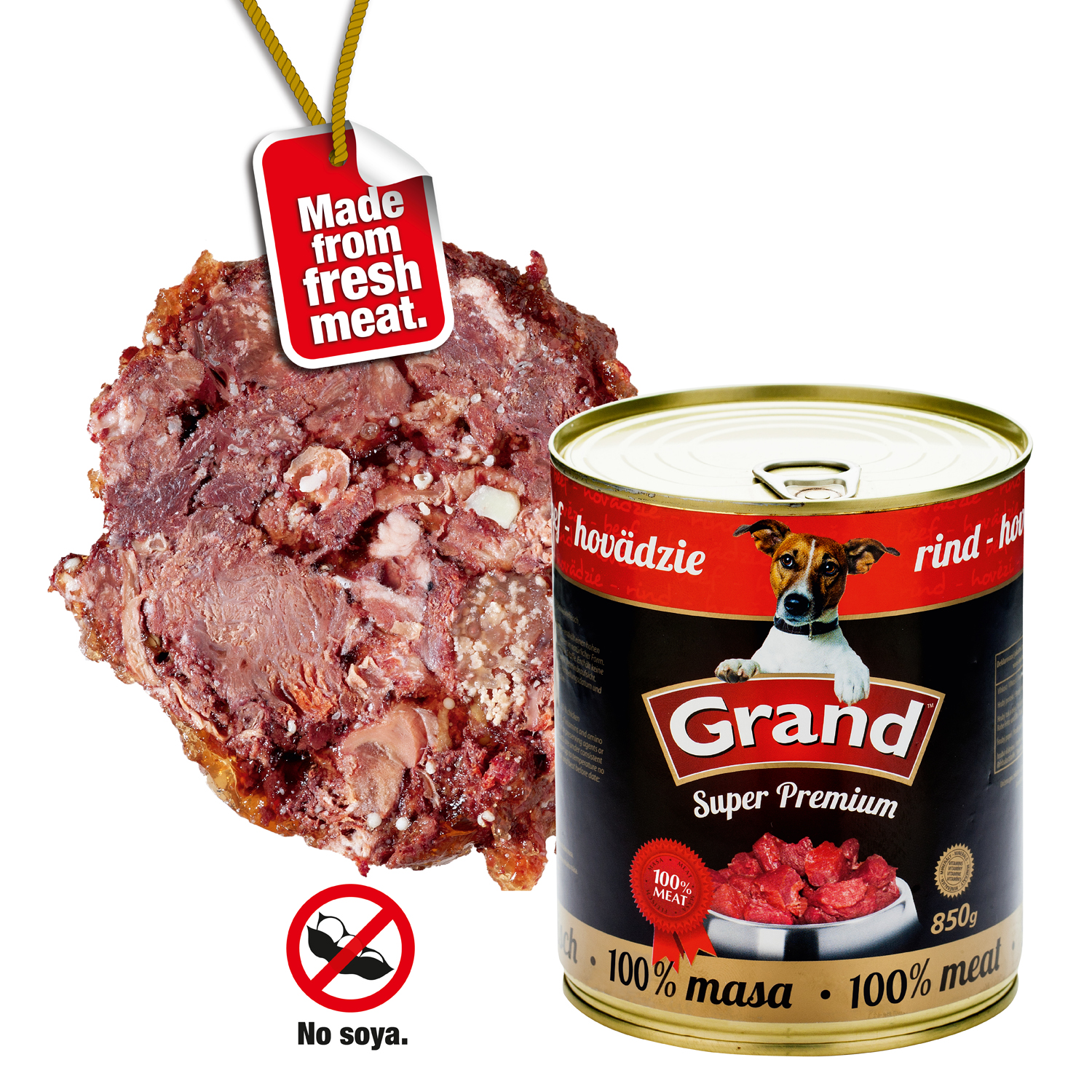 GRAND SuperPremium Hovězí - DOG 850g
